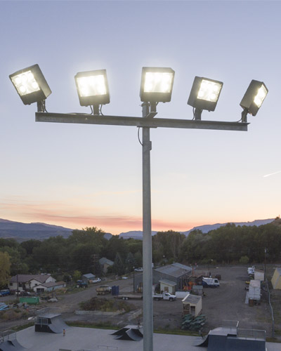 Light Pole Led Fixtures: Security Camera Poles & Mounting Brackets