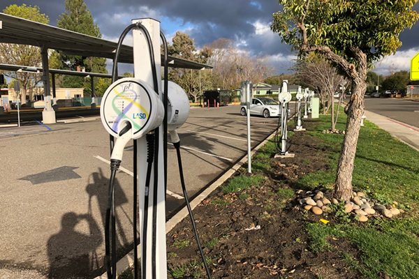Electric Vehicle Charging Station Install - School