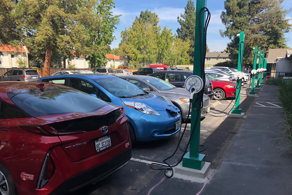 Electric Vehicle Charging Station Install - Parking Lot