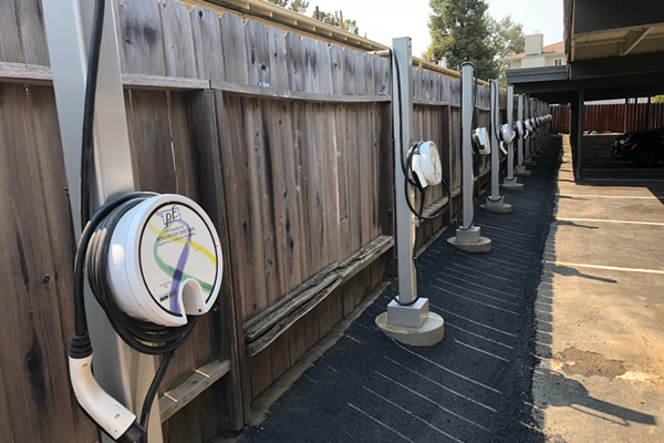 Electric Vehicle Charging Station Install - Restaurant