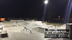 Light Pole & Fixture Project: #0718 - Riverton Skate Park