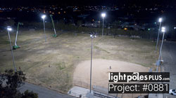 Light Pole Project: #0881 - New LED Helios Fixtures Installed for Baseball Field Project
