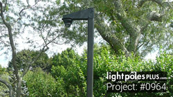 Project: #0964: Square Straight Steel Light Pole For Security Camera Project