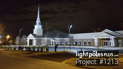 LED Fixture Project: #1213 - Trinity Baptist Church Parking Lot