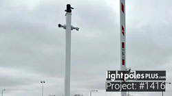 LED Fixture Project: #1416: Square Straight Aluminum Camera Pole Post