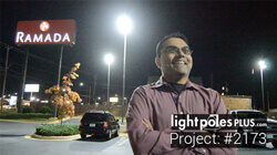 LED Fixture Project: #2173 - Hotel Parking Lot
