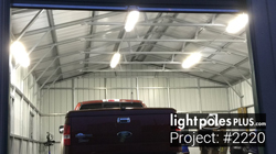 Light Pole-Fixture Project: #2220 - World Class Auto Detailing LED Shop Lighting