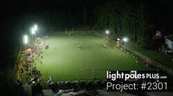 Light Pole-Fixture Project: #2301 - Grace Christian High School Football Field