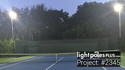 Backyard Lighting Project: #2345 - Tennis Court