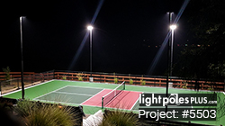 Backyard Lighting Project: #5503 - Residential Pickleball Court
