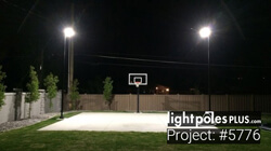 Backyard Lighting Project: #5776 - Home Backyard Basketball Court