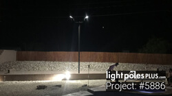 Backyard Lighting Project: #5886 - Backyard Horseshoe Pit