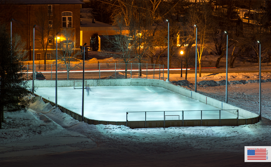 Backyard Ice Rink Lights ice rink & arena lighting solutions - professional grade