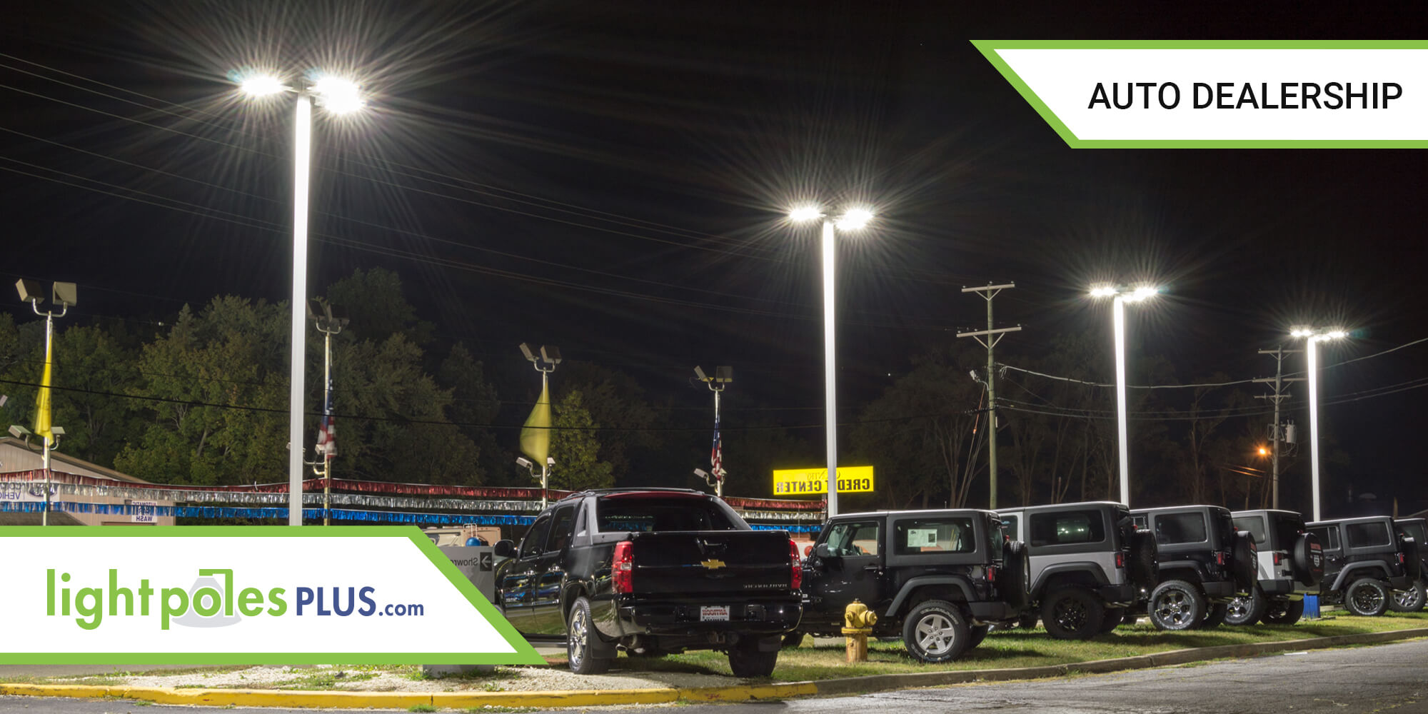 Parking Lot LED Lighting and Light Pole Project
