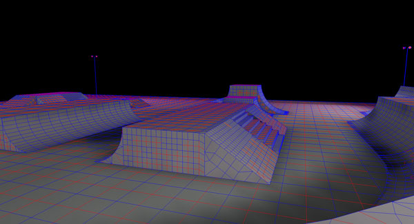Skate Park Photometric Layout - 3D Wire Frame
