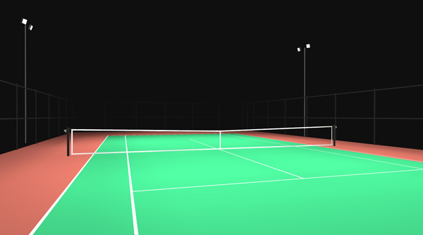 Indoor Outdoor Tennis Court Lighting Commercial Grade Premium Product
